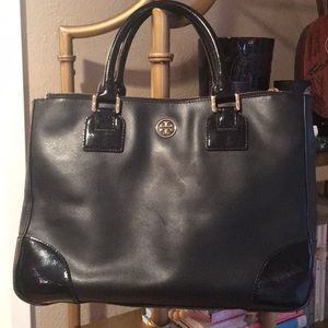 Tory Burch Patent leather Large East West Tote